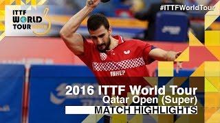 【Video】GACINA Andrej VS ZHANG Jike, 2016 Qatar Open  best 16