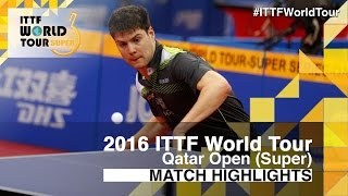 【Video】DYJAS Jakub VS OVTCHAROV Dimitrij, 2016 Qatar Open  best 16