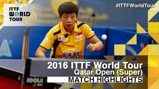 【Video】ZENG Jian VS HINA Hayata, 2016 Qatar Open  finals