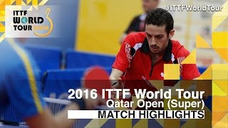 【Video】FREITAS Marcos VS KARLSSON Mattias, 2016 Qatar Open  best 32
