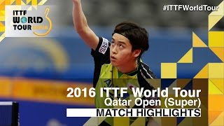 【Video】LI Ping VS MASATAKA Morizono, 2016 Qatar Open  best 32