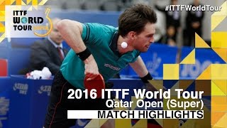 【Video】MENGEL Steffen VS DYJAS Jakub, 2016 Qatar Open  best 32
