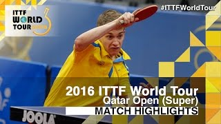 【Video】KALLBERG Anton VS ROBINOT Alexandre, 2016 Qatar Open  quarter finals