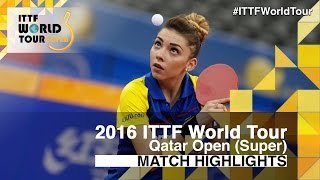 【Video】SZOCS Bernadette VS FARAMARZI Maha, 2016 Qatar Open  best 64