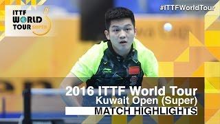 【Video】ZHANG Jike VS FAN Zhendong, 2016 Kuwait Open  semifinal