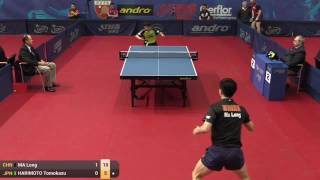 【Video】MA Long VS HARIMOTO Tomokazu, 2015  Polish Open  best 64