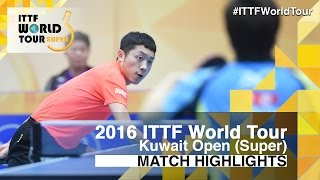 【Video】JUN Mizutani VS XU Xin, 2016 Kuwait Open  quarter finals