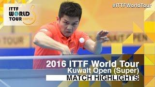 【Video】TANG Peng VS FAN Zhendong, 2016 Kuwait Open  quarter finals