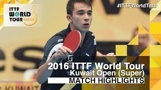 【Video】CALDERANO Hugo VS HO Kwan Kit, 2016 Kuwait Open  finals