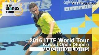 【Video】APOLONIA Tiago VS JUN Mizutani, 2016 Kuwait Open  best 32