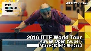 【Video】FLORE Tristan VS PATTANTYUS Adam, 2016 Kuwait Open  best 32