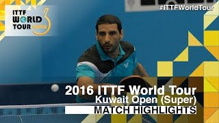 【Video】APOLONIA Tiago VS LASHIN El-Sayed, 2016 Kuwait Open  best 32