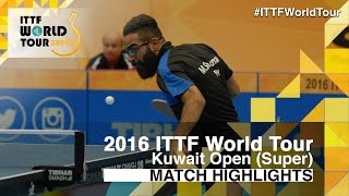 【Video】NUYTINCK Cedric VS SHOUMAN Mohamed, 2016 Kuwait Open  best 64