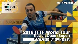 【Video】PAIKOV Mikhail VS EL-BEIALI Mohamed, 2016 Kuwait Open  best 64
