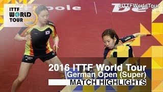 【Video】JEON Jihee・YANG Haeun VS HAN Ying・IVANCAN Irene, 2016 German Open  finals