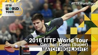 【Video】CHUANG Chih-Yuan VS OVTCHAROV Dimitrij, 2016 German Open  quarter finals