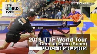 【Video】FANG Bo VS ZHANG Jike, 2016 German Open  quarter finals