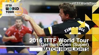 【Video】GACINA Andrej VS BOLL Timo, 2016 German Open  best 16
