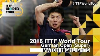 【Video】WANG Zengyi VS FANG Bo, 2016 German Open  best 16