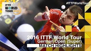 【Video】KOJIC Frane VS BOLL Timo, 2016 German Open  best 32