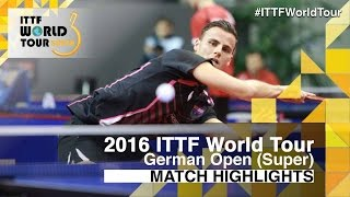 【Video】APOLONIA Tiago VS SAMSONOV Vladimir, 2016 German Open  best 32