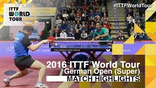 【Video】ASSAR Omar VS OVTCHAROV Dimitrij, 2016 German Open  best 32