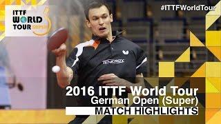 【Video】FEGERL Stefan VS KOKI Niwa, 2016 German Open  best 32