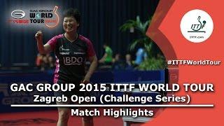 【Video】NI Xia Lian VS SAKAI Haruka, 2015  Zagreb  Open  best 64