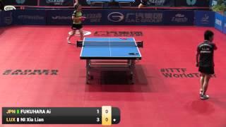【Video】NI Xia Lian VS FUKUHARA Ai, 2015  Zagreb  Open  best 32