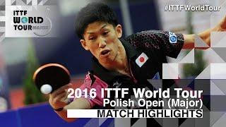 【Video】MIZUTANI Jun VS YOSHIMURA Maharu, 2016 Polish Open  semifinal