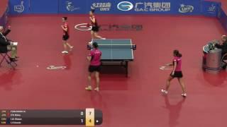 【Video】FUKUHARA Ai・ITO Mima VS LI Xiaoxia・LIU Shiwen, 2015  Polish Open  quarter finals