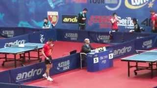 【Video】ZHANG Jike VS SHIONO Masato, 2015  Polish Open  best 32