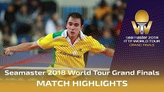 【Video】YUYA Oshima VS CALDERANO Hugo, 2018 World Tour Grand Finals best 16