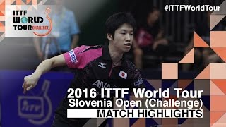 【Video】MIZUTANI Jun VS CHUANG Chih-Yuan, 2016 Slovenia Open  finals