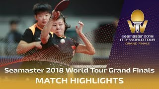 【Video】CHEN Ke・WANG Manyu VS CHEN Xingtong・SUN Yingsha, 2018 World Tour Grand Finals semifinal