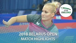 【Video】BALAZOVA Barbora VS SAKI Shibata, 2018 Challenge Belarus Open quarter finals