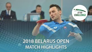 【Video】PISTEJ Lubomir VS HACHARD Antoine, 2018 Challenge Belarus Open best 16