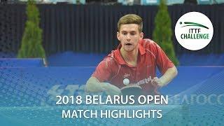 【Video】PLETEA Cristian VS DIDUKH Oleksandr, 2018 Challenge Belarus Open best 32
