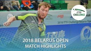 【Video】DEVOS Robin VS THAKKAR Manav Vikash, 2018 Challenge Belarus Open best 32
