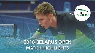【Video】PLETEA Cristian VS HIPPLER Tobias, 2018 Challenge Belarus Open best 64