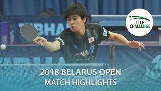 【Video】YUTA Tanaka VS SALEH Ahmed, 2018 Challenge Belarus Open best 64
