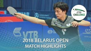 【Video】KOHEI Sambe VS THAKKAR Manav Vikash, 2018 Challenge Belarus Open best 64