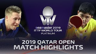 【Video】KARLSSON Mattias VS TOMOKAZU Harimoto, 2019 Platinum Qatar Open quarter finals
