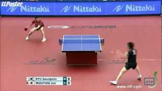 【Video】RYU Seungmin VS MIZUTANI Jun, 2012  Japan Open quarter finals