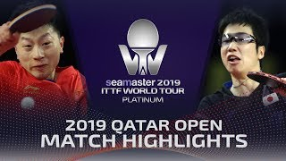 【Video】JUN Mizutani VS MA Long, 2019 Platinum Qatar Open quarter finals