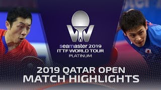 【Video】YUYA Oshima VS XU Xin, 2019 Platinum Qatar Open best 16
