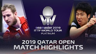 【Video】JUN Mizutani VS SIRUCEK Pavel, 2019 Platinum Qatar Open best 16