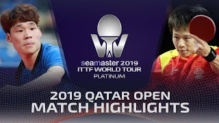 【Video】JANG Woojin VS LIN Gaoyuan, 2019 Platinum Qatar Open best 16