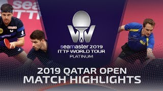 【Video】DYJAS Jakub・NUYTINCK Cedric VS BOLL Timo・FRANZISKA Patrick, 2019 Platinum Qatar Open semifinal
