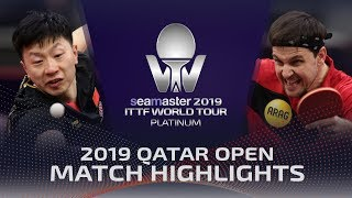 【Video】BOLL Timo VS MA Long, 2019 Platinum Qatar Open best 16